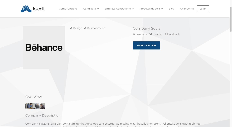2 = Página da Empresa